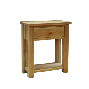 Contemporary Solid Oak QPHT1 1 Drawer Hall Table  www.easyfurn.co.uk