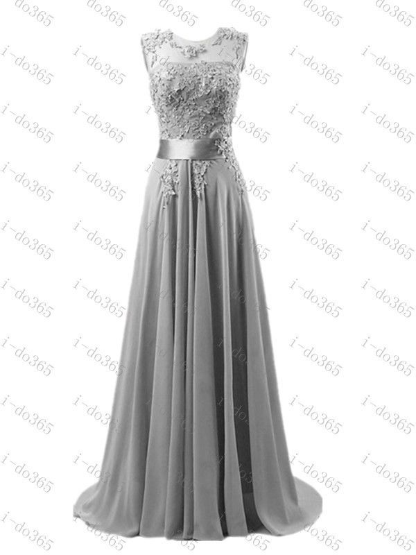 Long Chiffon Dress Prom Party Cocktail Evening Ball Gown BLACK All Sizes