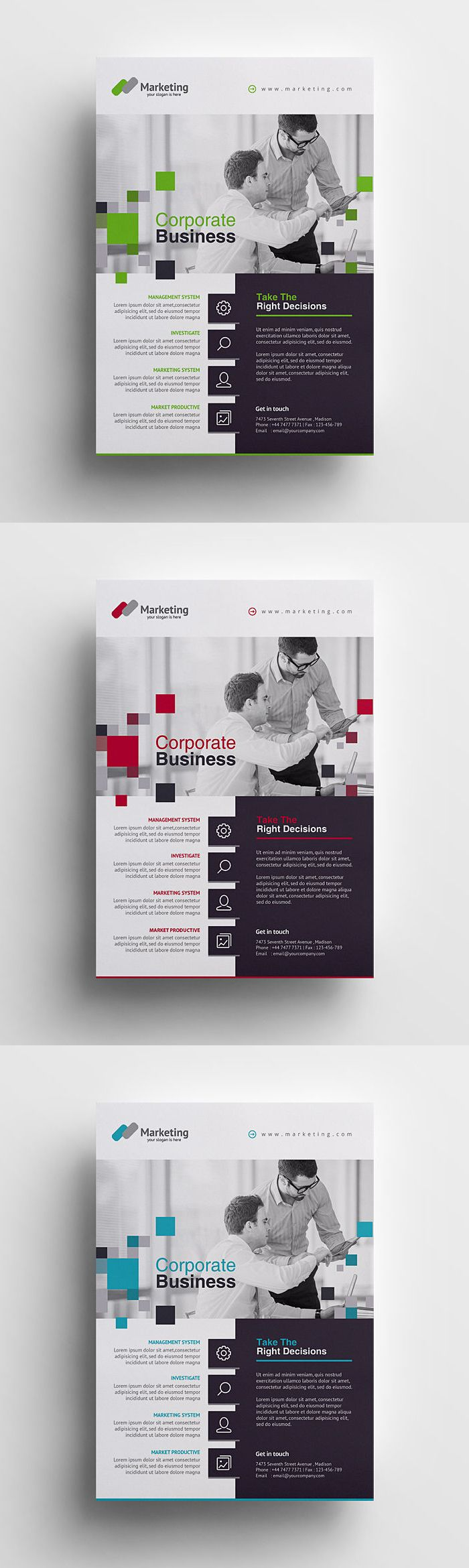 Creative Business Flyer Template PSD                                                                                                                                                                                 More