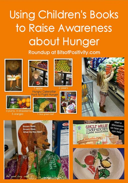 Roundup of creative ideas for using children's books to get kids involved in food drives and other hunger action activities.