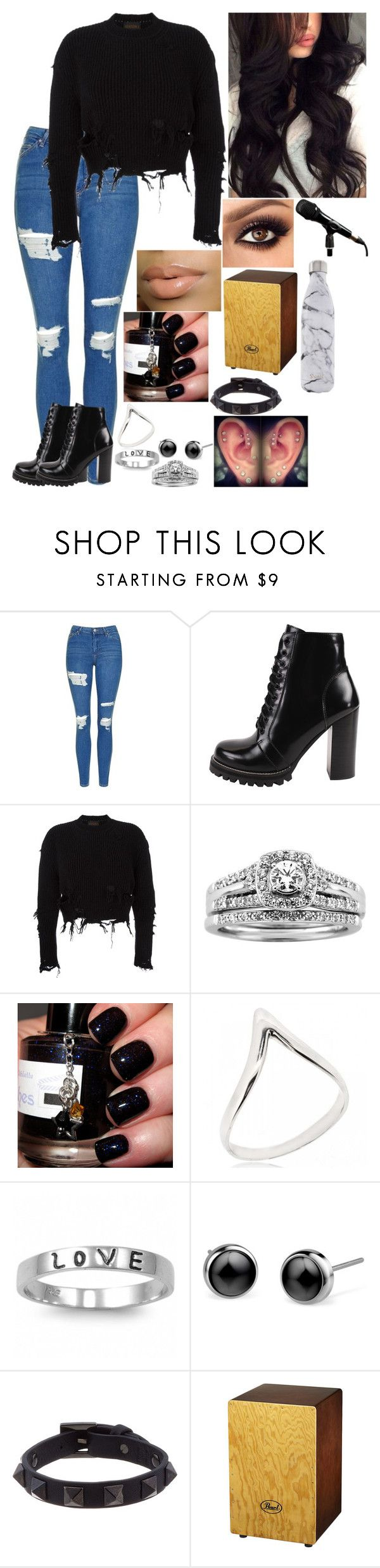 """""""Untitled #3005 - Concert in Oberhausen, Germany - 11/17/16"""" by nicolerunnels ❤ liked on Polyvore featuring Topshop, Jeffrey Campbell, adidas Originals, A.Jaffe, Fantasy Jewelry Box, J.A.K., Valentino and S'well"""