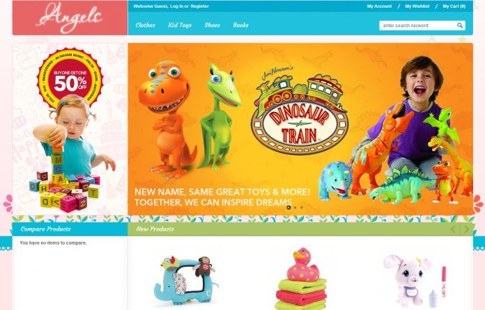 EM Go Angels - colourful and responsive #Magento go theme for baby store with a extremaly #clean and neat #layout.