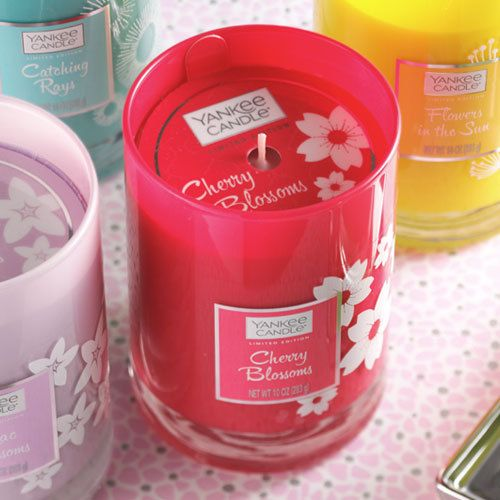 456 best my yankee candles images on pinterest yankee candles cherry blossoms an enchanting armful of springs freshest blooms that turns any room pink and sciox Images