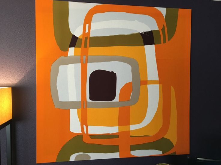 Marimekko Fabric wrapped canvas
