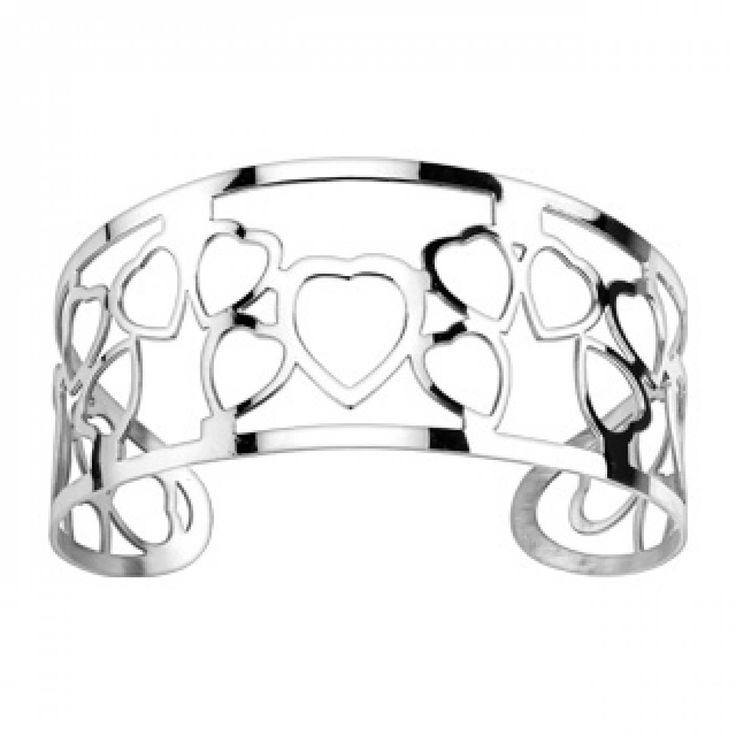 Ladies stainless steel Nuage hearts bangles - Spikes