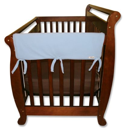 Protect your baby, and protect your crib investment from teeth marks. Just wrap and tie on. Safer solution is lightly padded with a waterproof layer.