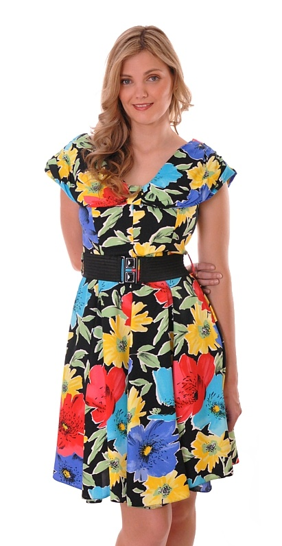 Wing Collar Floral Dress | Damsel Vintage #vintage