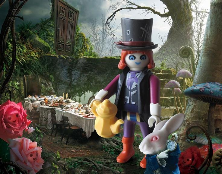 Alice in Wonderland's mad hatter. Por gentileza de Gloria, buena colega de aventuras que soñamos cada día.