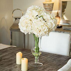 Dorma Hydrangeas in Goblet Vase