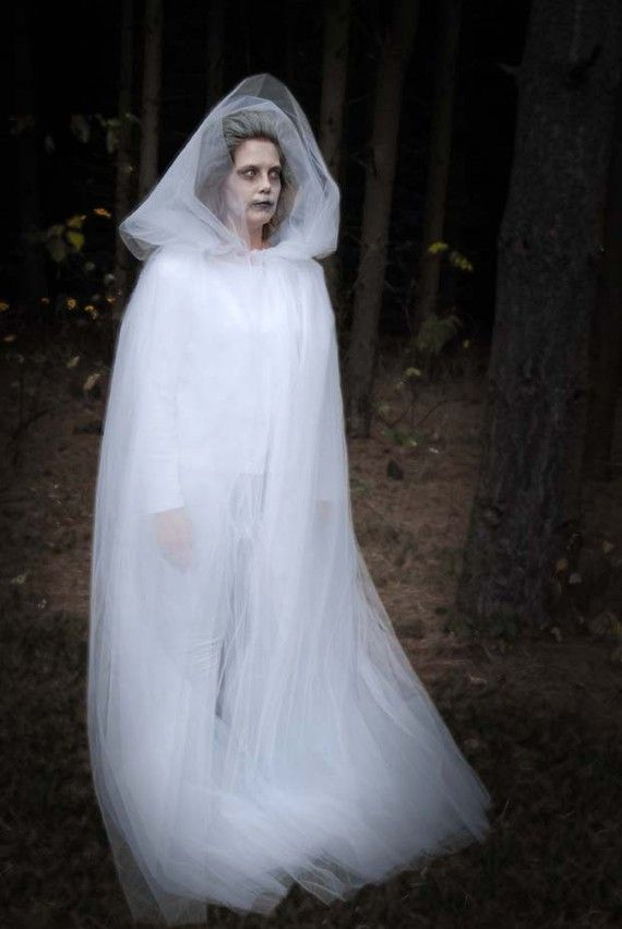 Halloween costume idea - white unders and lots of tulle