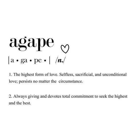 Agape Love Definition drucken | Liebe Definition drucken | SOFORT herunterladen | Wandkunst | Jubiläumsgeschenk | Geschenk für Ehepartner   – Beautiful words