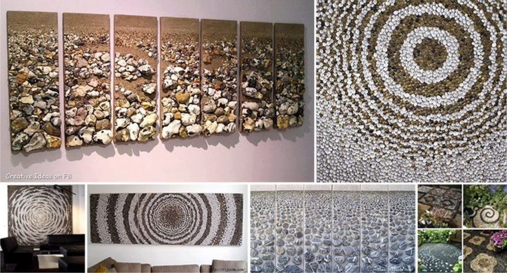 Cuadros elaborados con piedras muy originales - Cuadros con piedras ...