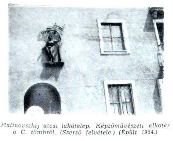 Malinovszkij utcai lakótömb  fotó: ifj. Horváth Béla forrás: Borsodi Műszaki Élet 1957 okt.