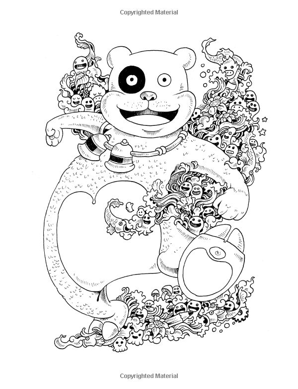 Doodle Invasion Coloring Book Free