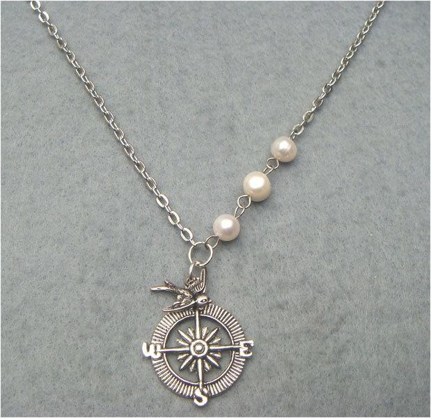 Compass necklace Tu vida es como un brujula, hace que guies a otros...