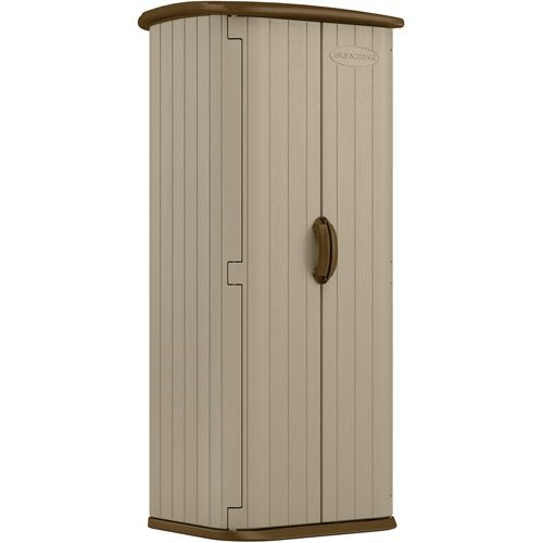 Suncast Storage Shed, 20 cu ft, Resin Storage Shed, Taupe, Outdoor Storage Shed