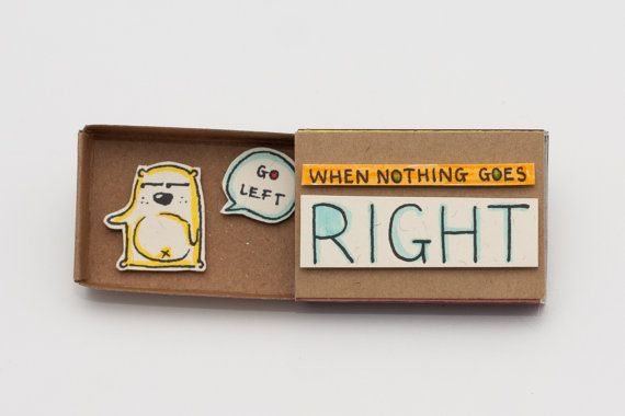 Cute Fun Encouragement Inspirational Matchbox / van shop3xu op Etsy