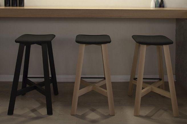 Copenhagen Restaurant - Valencia : Bevel stools, design by Sohei Arao for PUNT MOBLES