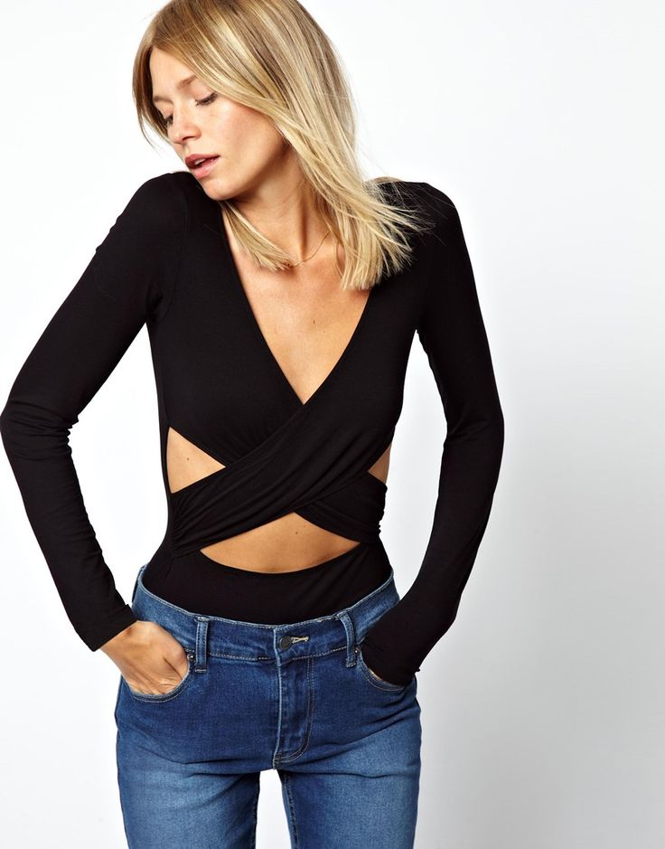 ASOS Body with Wrap Front and Cut Out Side