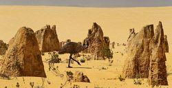 TWA-0022190 © WestPix An emu at the Pinnacles desert at Nambung National Park, Cervantes. Pic Mogens Johansen, The West Australian 240113