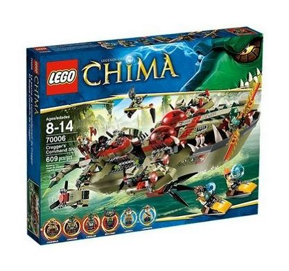 One of this years hot Lego Sets is the Lego Chima Cragger Command Ship!