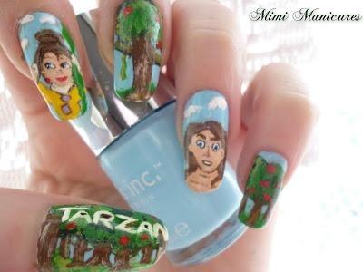 Disney Tarzan And Jane Manicure