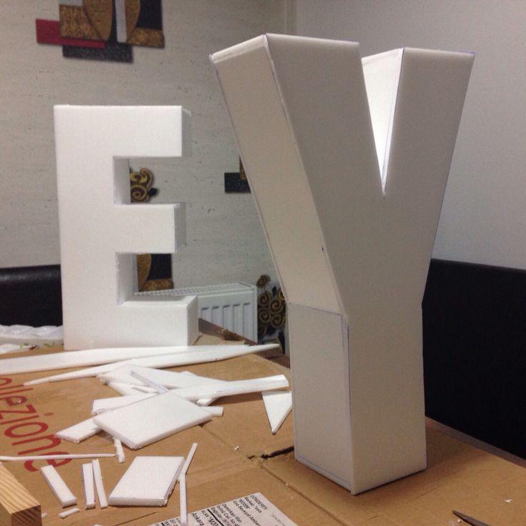 Foam core 3D letters - Strafordan 3 boyutlu harfler