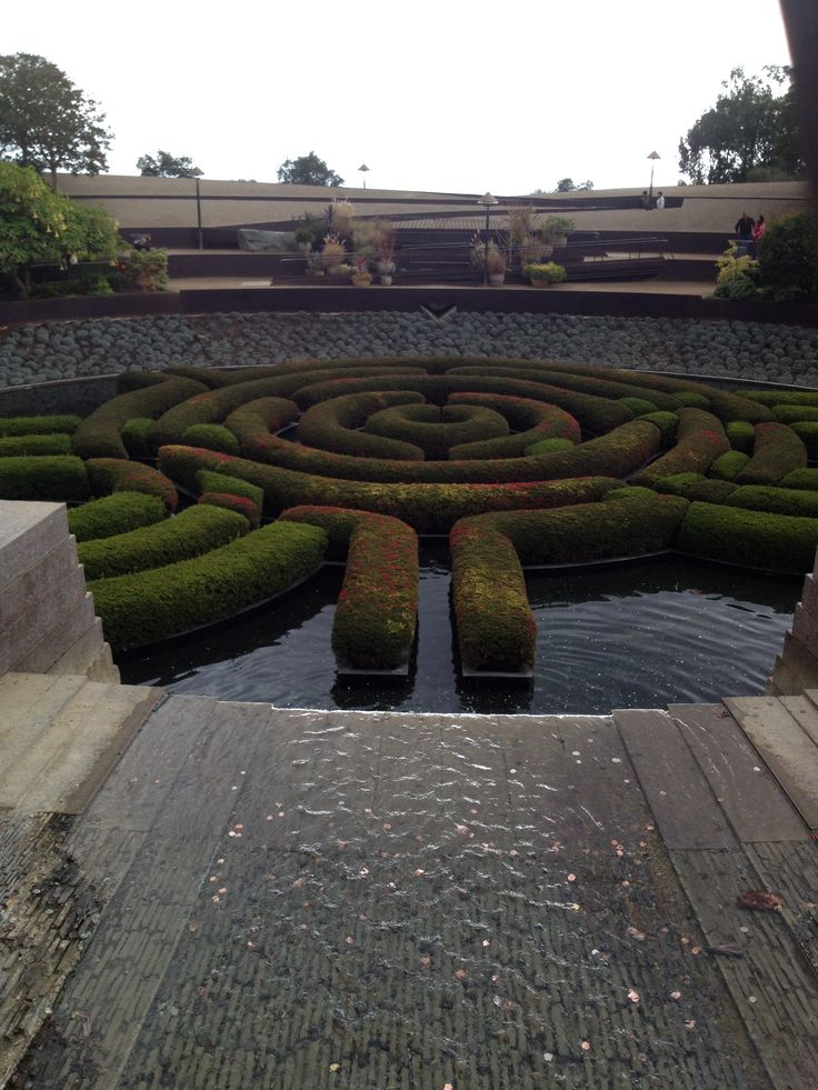 The Getty Museum- Garden  water maze