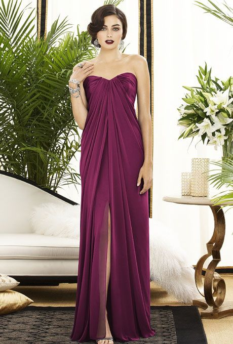 Brides.com: Plum Bridesmaid Dresses Dessy available at Weddington Way | Click to browse 30+ styles! See more Dessy bridesmaid dresses.