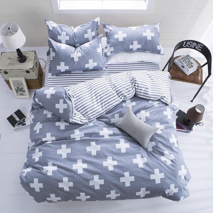 Cheap Grass Printed Comforter White Plain Bedlinen Cozy Cotton Bedding Sets 3pcs Or 4pcs Bed Sheets Wholesale