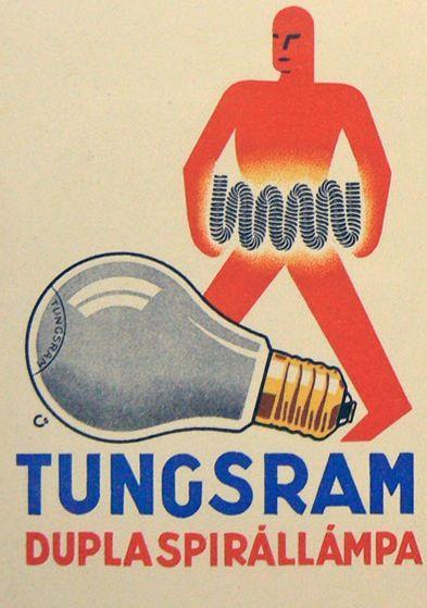 Tungsram Light Bulb Vintage Ad