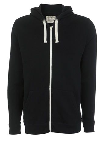 Burton  The classic black hoodie, perfect under any denim or leather jacket.  £20.00