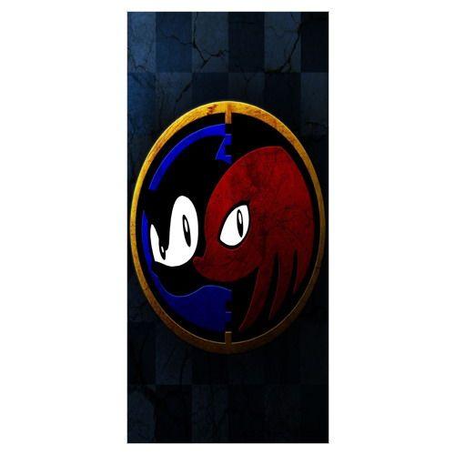 Custom Cartoon Game&Sonic the Hedgehog Background Printed Soft Bamboo Fiber Towels/Drying Bath Drying Washcloth_Size:35CMX70CM