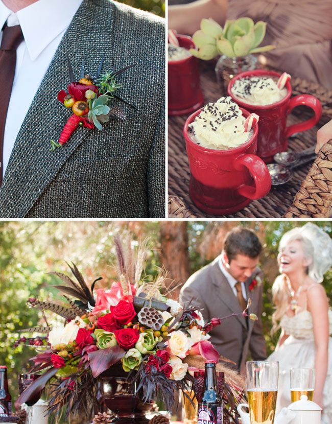 For some reason I love this, the tweed and boot'near, and coffee... I really want a coffee bar at my wedding