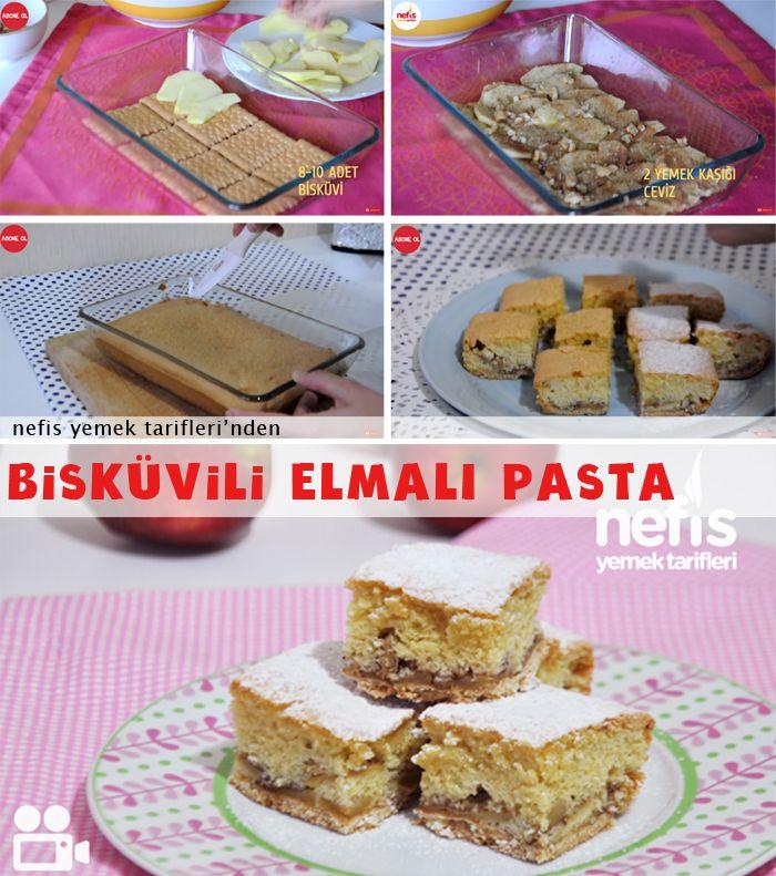 Videolu anlatım Bisküvili Elmalı Pasta Yapımı Tarifi nasıl yapılır? 10.449 kişinin defterindeki bu tarifin videolu anlatımı ve deneyenlerin fotoğrafları burada. Yazar: Elif Atalar