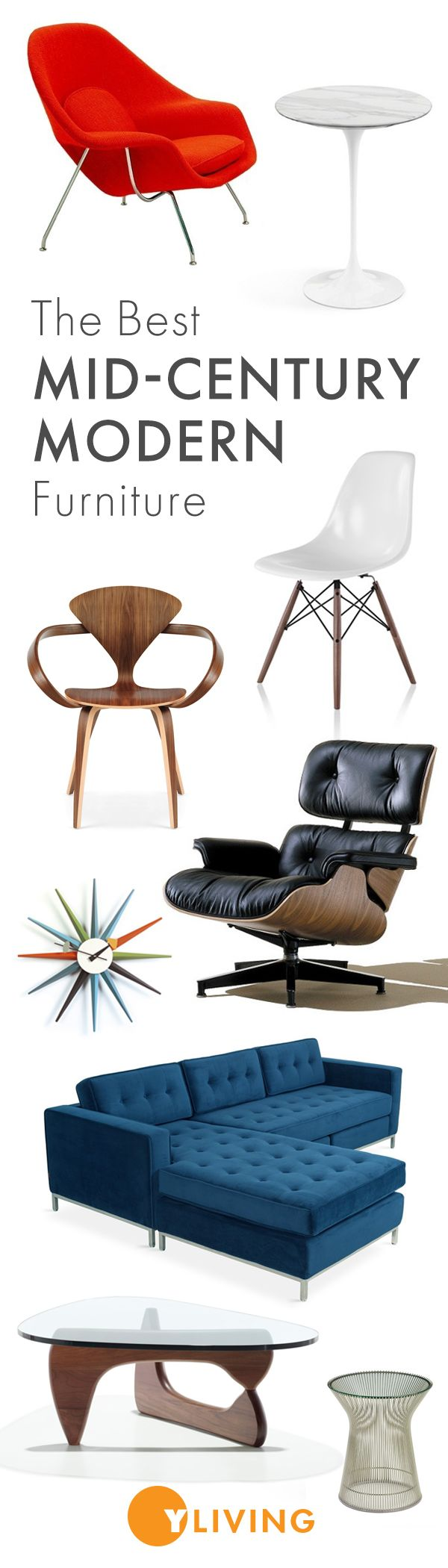 Explore our curated assortment of the best Mid Century Modern icons and designs that define the style. Shop Now >> http://www.yliving.com/features/_/N-1z141fe