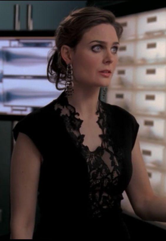 Black Lace Dress Temperance Brennan - Bones, Season 4, Epsiode 9