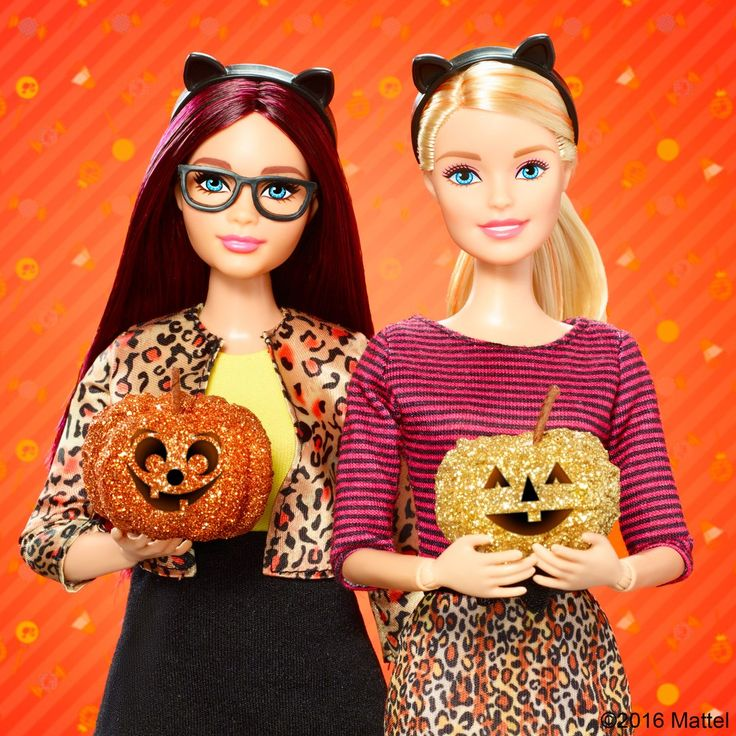 Celebrate Halloween and express your creativity by carving pumpkins! Barbie, October 2016