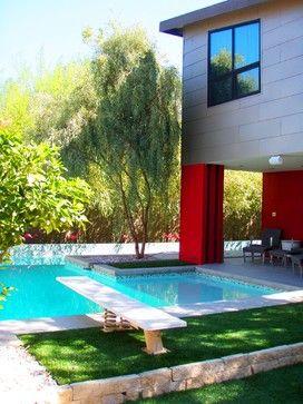 wrap around pool - mid century style