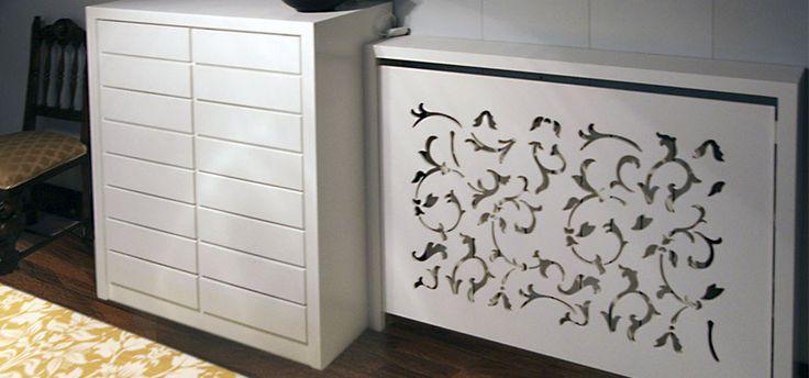 Cómoda y cubre-radiador realizado en Corian®. Diseño exclusivo para particular en Zaragoza.