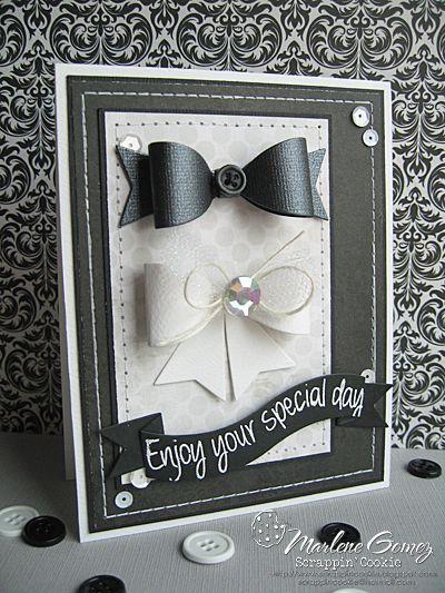 Scrappin Cookie: My Craft Spot Monday Challenge #123 - Bow Tie Wedding