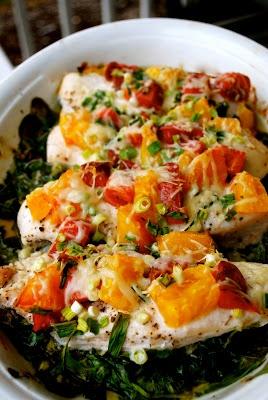 My Kitchen Escapades: Spinach and Tomato Chicken