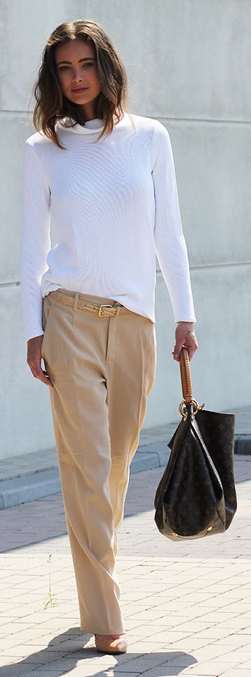 Nude And White Outfit by Mode d'Amour