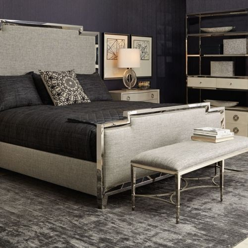 Full Of Soft Grey Ivory And Nickel The Gretta Series Is Modern Tailored Shop Look At Kathy Kuo Home