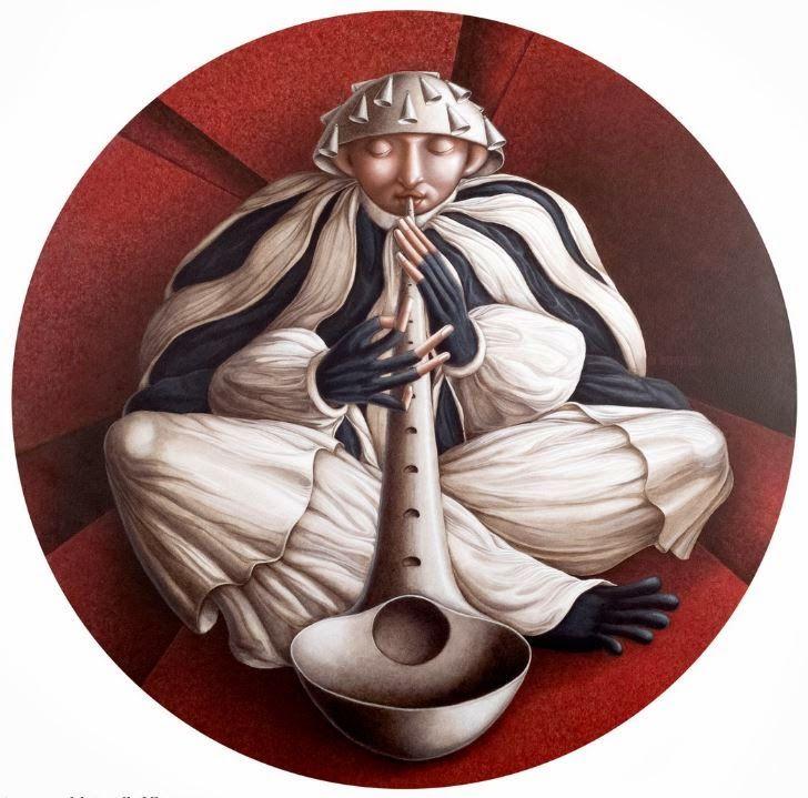 """Ida Budetta """" Le Verità Nascoste """" Sonata per il Diritto alla Follia 2013 100 cm acrilico su tavola"""
