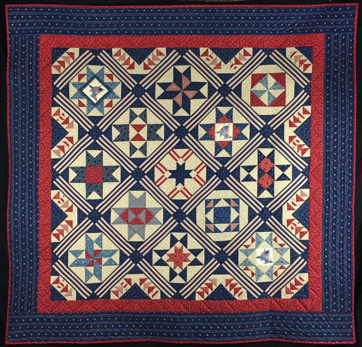 Americana Quilt Sewing Home Decor • Stitches Quilting