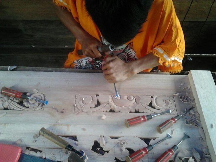 when make it #ukiran #Kriya #Wood Carving #Woodcarving