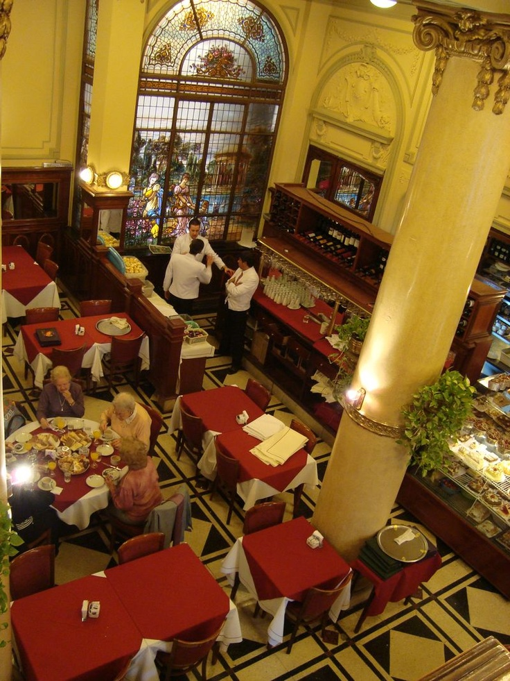 Las Violetas, famous for 5pm tea time, in Almagro - Buenos Aires, Argentina