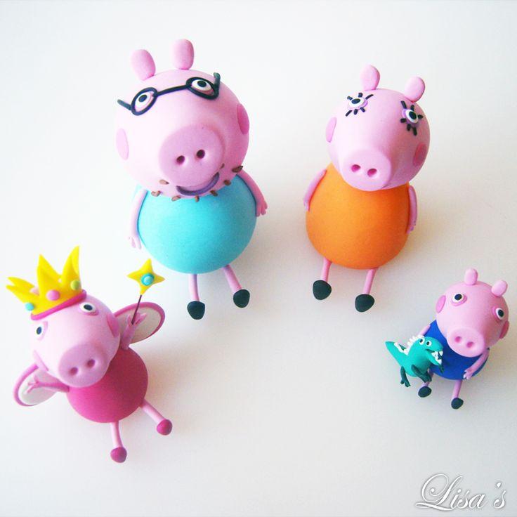 Princess Peppa and family cake toppers lisas