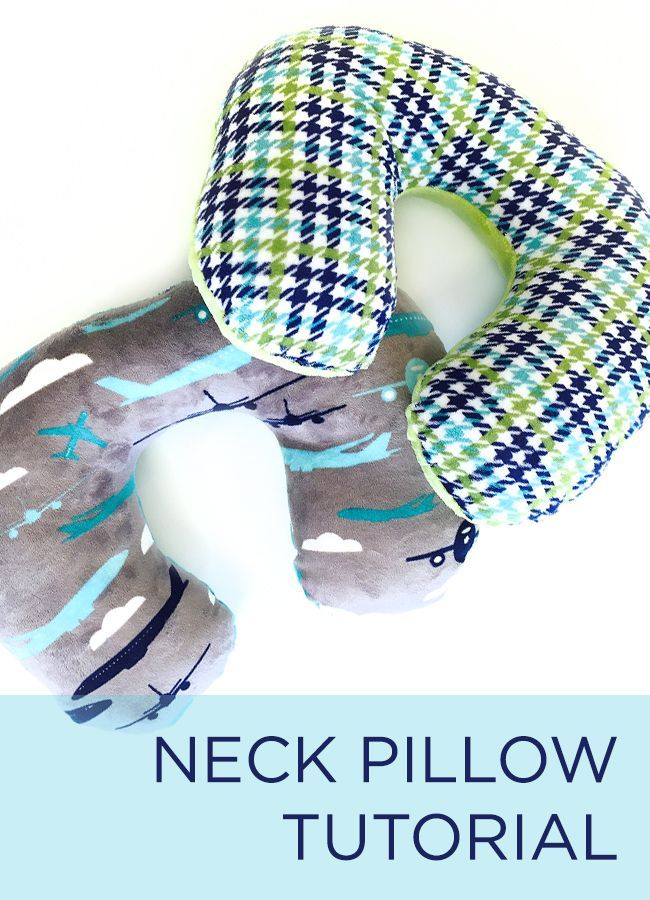 Neck pillow tutorial ideal to use for long journeys